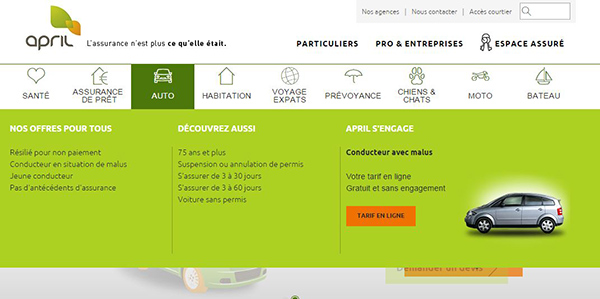 site officiel d'April assurance