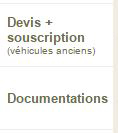 devis, souscription et documentation