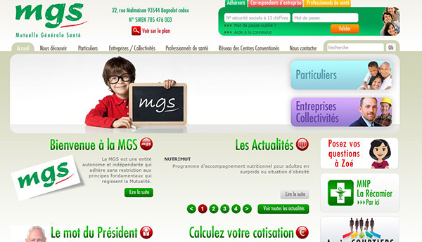 site officiel mutuelle mgs