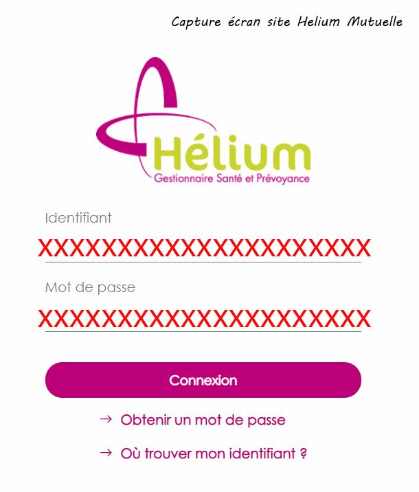 se connecter espace Helium Mutuelle
