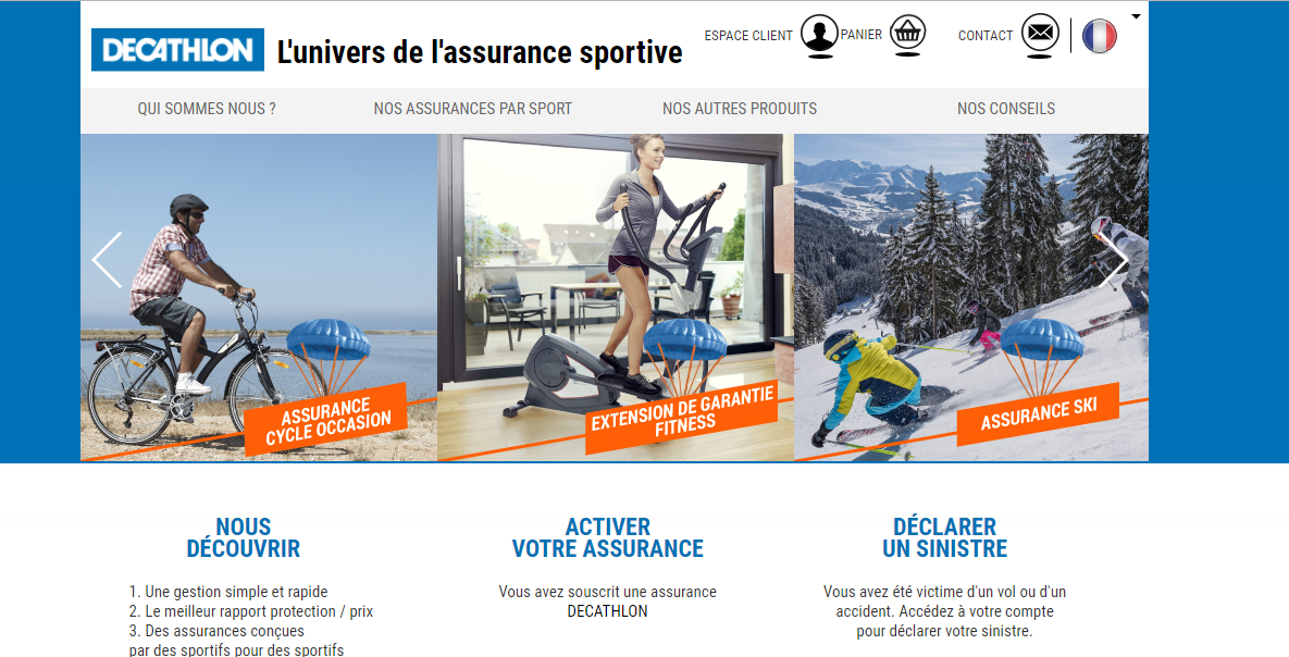 site assurances.decathlon.fr