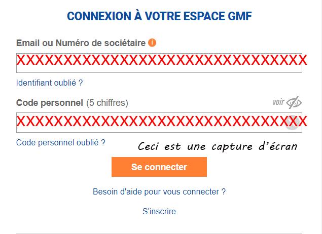 se connecter espace gmf