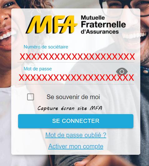 se connecter espace MFA