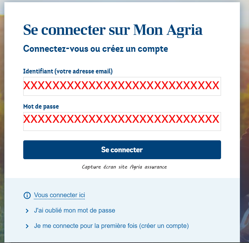 mon espace perso Agria assurance
