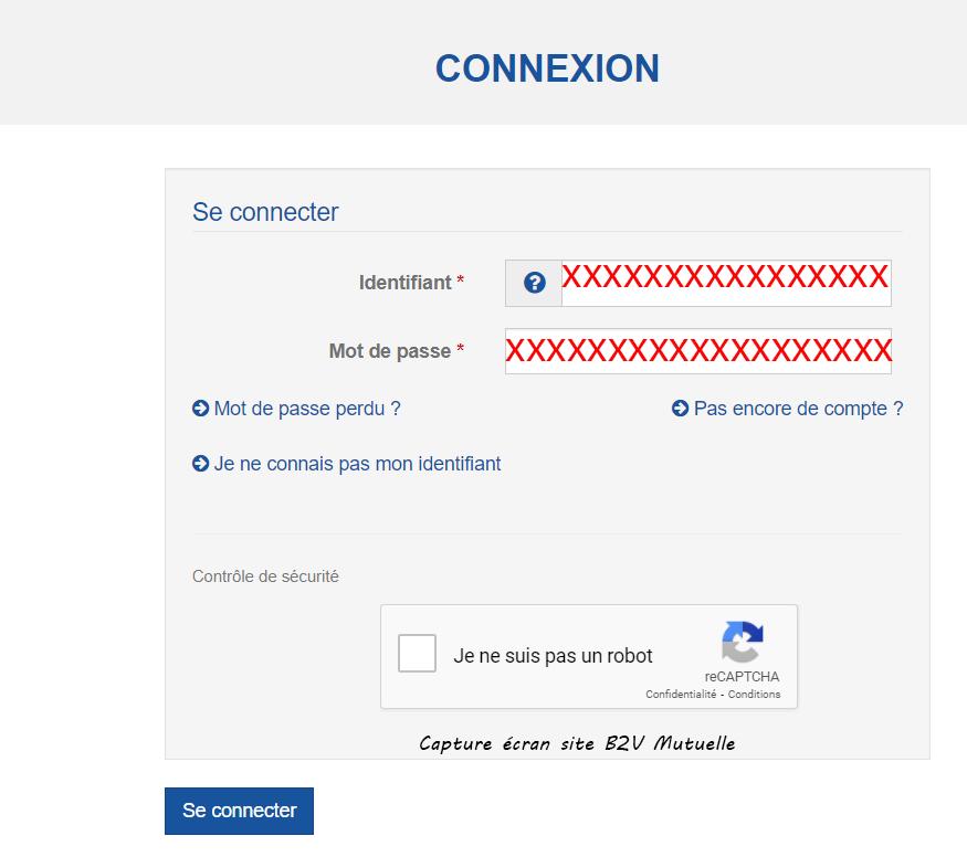 connexion compte b2v mutuelle