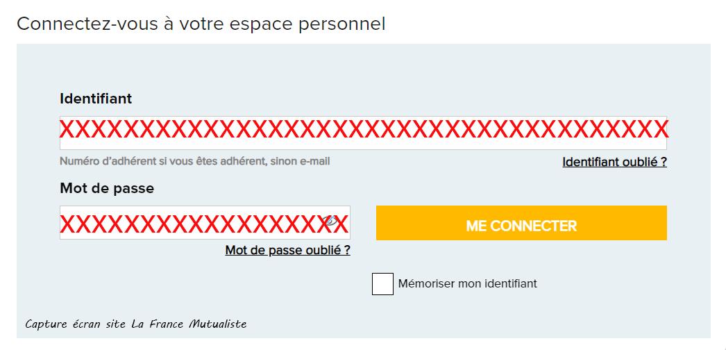 acces à mon compte La France Mutualiste