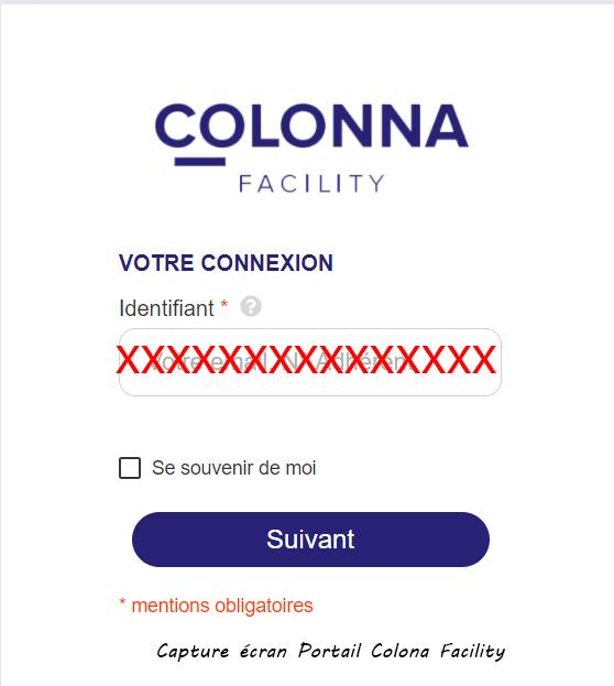 acces compte colona facility