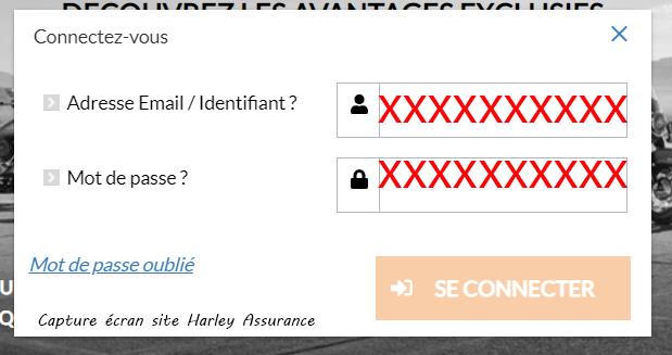 se connecter compte Harley Assurance