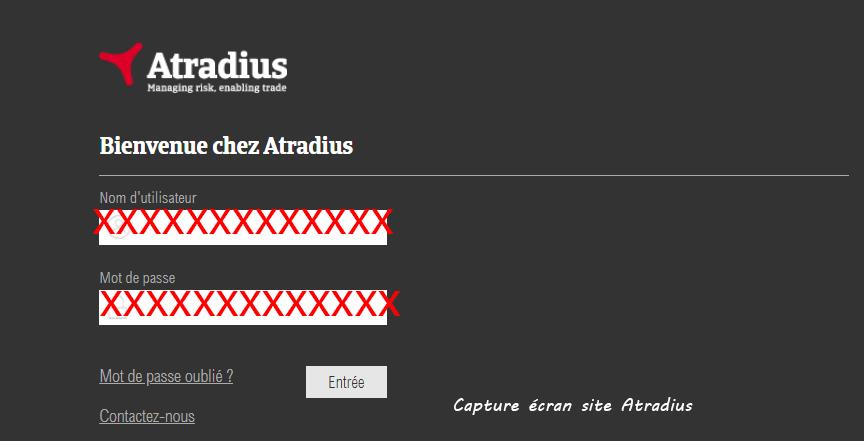 connexion compte Atradius Atrium