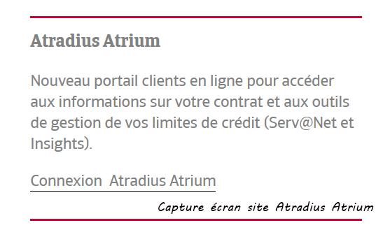 compte Atradius Atrium