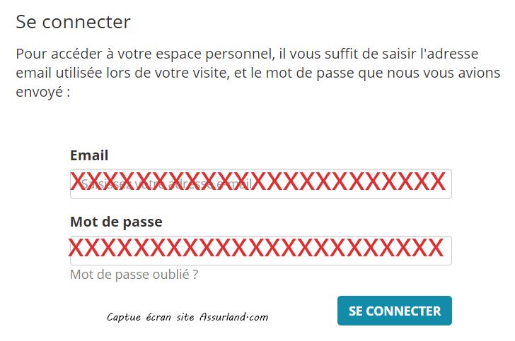se connecter espace assuland.com