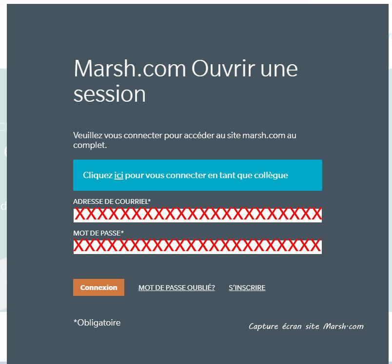 acces espace client Marsh Assurance