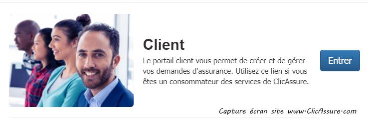 se connecter espace client Clicassurance